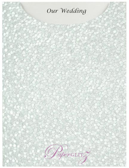 Glamour Pocket C6 - Embossed Pebbles Baby Blue Pearl