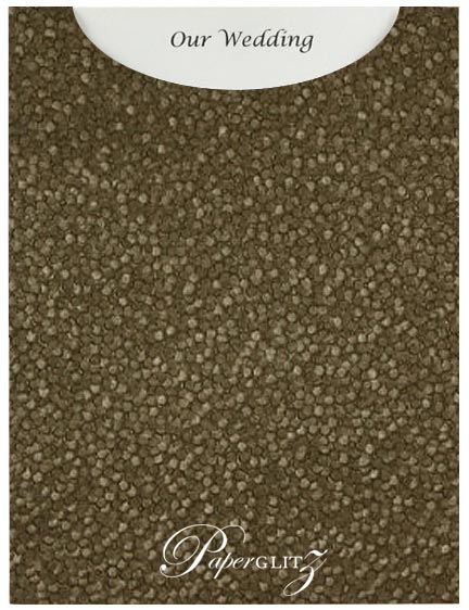 Glamour Pocket C6 - Embossed Pebbles Chocolate Pearl