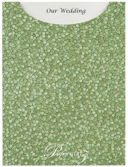 Glamour Pocket C6 - Embossed Pebbles Sea Green Pearl