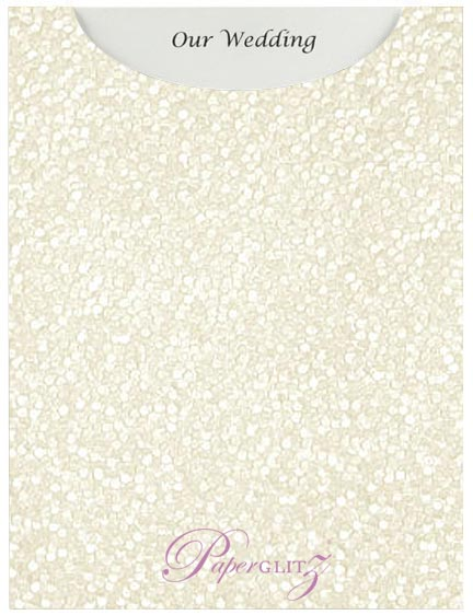 Glamour Pocket C6 - Embossed Pebbles White Pearl