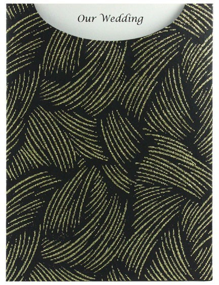 Glamour Pocket C6 - Glitter Print Ritz Black & Gold Glitter