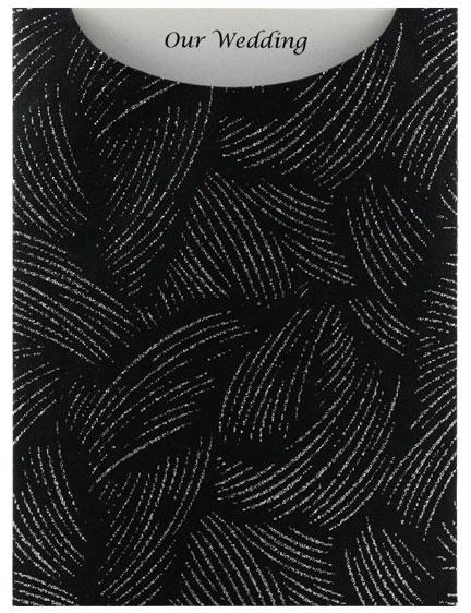 Glamour Pocket C6 - Glitter Print Ritz Black & Silver Glitter