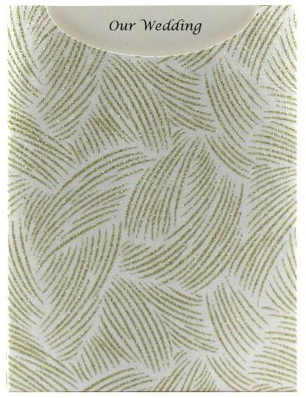 Glamour Pocket C6 - Glitter Print Ritz White Pearl & Gold Glitter