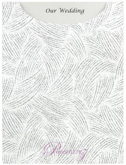 Glamour Pocket C6 - Glitter Print Ritz White & Silver Glitter