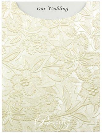 Glamour Pocket C6 - Embossed Spring Ivory Pearl
