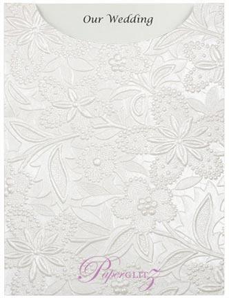 Glamour Pocket C6 - Embossed Spring White Pearl