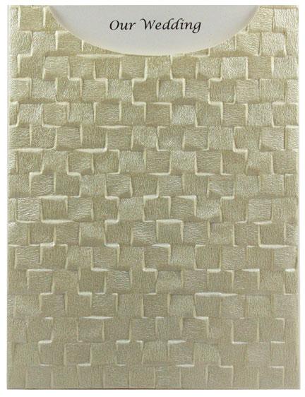 Glamour Pocket C6 - Embossed Trident Ivory