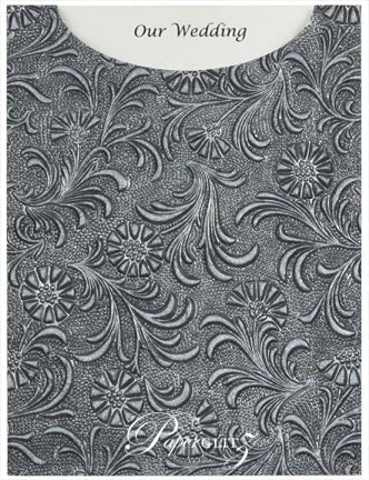 Glamour Pocket C6 - Embossed Tuscany Midnight Pearl