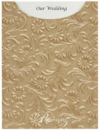 Glamour Pocket C6 - Embossed Tuscany Mink Pearl