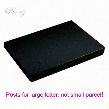 C6 Invitation Box - Crystal Perle Metallic Glittering Black