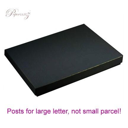 C6 Invitation Box - Crystal Perle Metallic Licorice Black