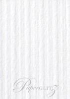 120x175mm Scored Folding Card - Classique Striped White