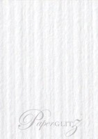 13.85x20cm Flat Card - Classique Striped White