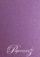 110x165mm Flat Card - Classique Metallics Orchid