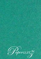 120x175mm Scored Folding Card - Classique Metallics Turquoise