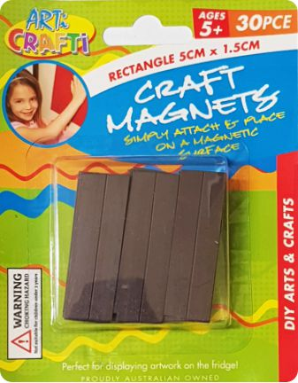 Rectangle Craft Magnets 5cm x 1.5cm - 30 Pieces