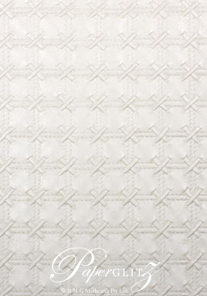 Glamour Add A Pocket V Series 21cm - Embossed Cross Stitch White Pearl