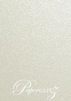 12cm Square Scored Folding Card - Crystal Perle Metallic Antique Silver