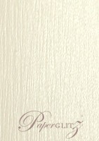 120x175mm Scored Folding Card - Crystal Perle Metallic Arctic White Lumina