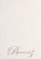 120x175mm Scored Folding Card - Crystal Perle Metallic Diamond White Lumina