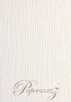 120x175mm Flat Card - Crystal Perle Metallic Diamond White Lumina