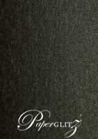 Crystal Perle Metallic Licorice Black 125gsm Paper - A5 Sheets