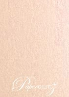 Petite Scored Folding Card 80x135mm - Crystal Perle Metallic Pastel Pink