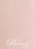 Crystal Perle Metallic Pastel Pink 125gsm Paper - DL Sheets