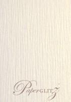 120x175mm Scored Folding Card - Crystal Perle Metallic Sandstone Lumina