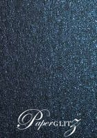 Crystal Perle Metallic Sparkling Blue 125gsm Paper - DL Sheets