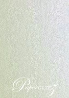 Crystal Perle Metallic Steele Silver 125gsm Paper - DL Sheets