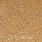 120x175mm Scored Folding Card - Curious Metallics Cognac