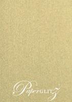 120x175mm Flat Card - Curious Metallics Gold Leaf