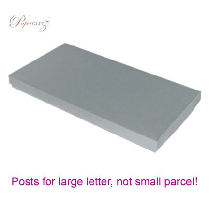 DL Invitation Box - Crystal Perle Metallic Steele Silver