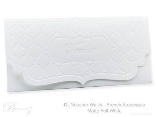 DL Voucher Wallet - French Arabesque Mohawk Via Felt Bright White