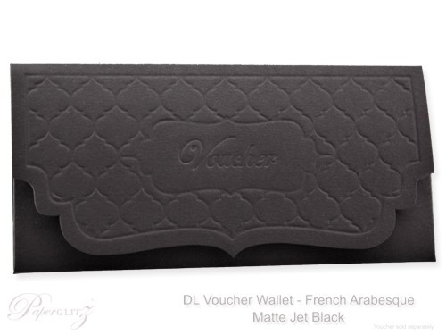 DL Voucher Wallet - French Arabesque Keaykolour Original Jet Black