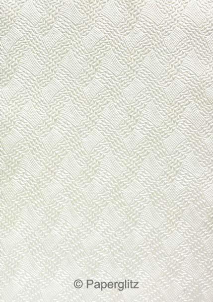 Glamour Add A Pocket V Series 21cm - Embossed Destiny White Pearl
