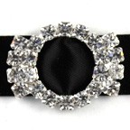 Diamante Buckle - Roundcaps - 10 Pack