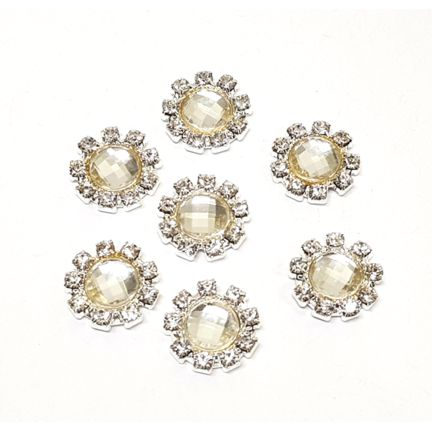 Diamante Cluster - Circle Small Vintage - 10 Pack