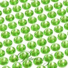 Self-Adhesive Diamantes - 6mm Round Lime Green - Sheet of 100