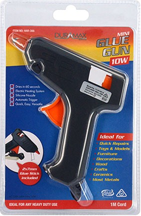 Hot Glue Gun - 10 Watt (inc 2 glue sticks)