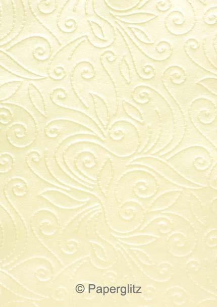 Glamour Pocket DL - Embossed Elyse Ivory Pearl