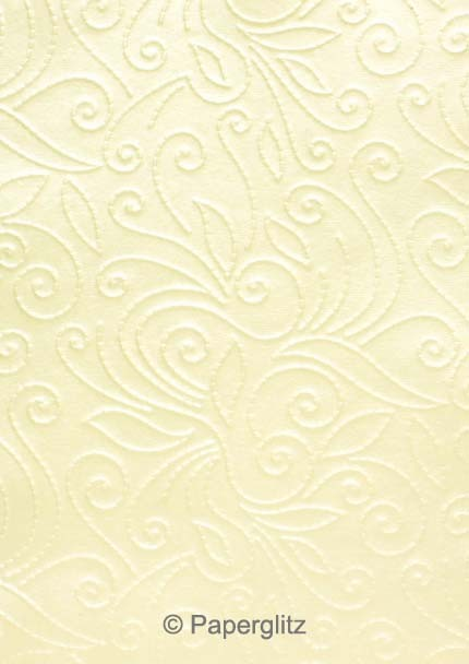 Handmade Embossed Paper - Elyse Ivory Pearl Full Sheet (Special size 66x66cm) - 100 Sheet Special