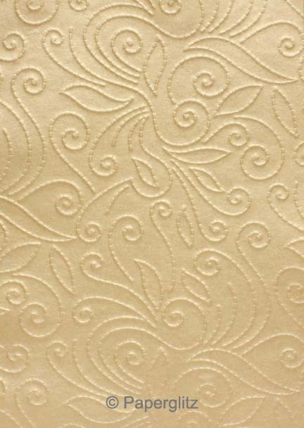 Handmade Embossed Paper - Elyse Mink Pearl A4 Sheets