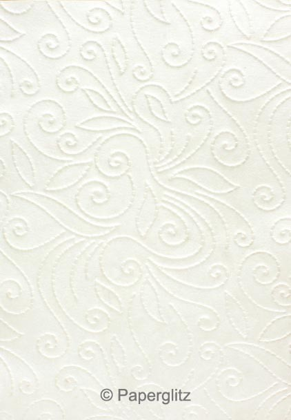 Glamour Pocket 150mm Square - Embossed Elyse White Pearl
