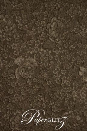 Petite Glamour Pocket - Embossed Flowers Chocolate Pearl