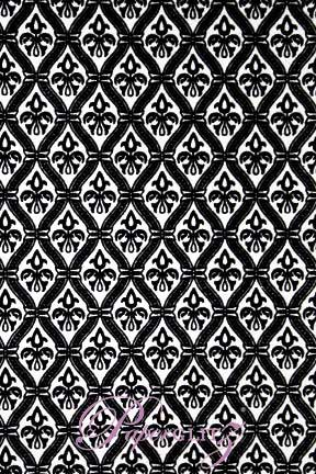 Handmade Flocked Paper - Fleur Black Flock on White Pearl A4 Sheets