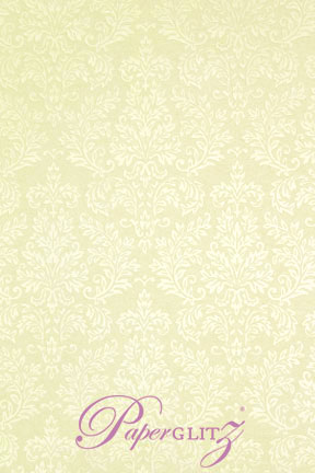Glamour Pocket DL - Embossed Grace Ivory Pearl