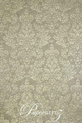 Handmade Embossed Paper - Embossed Grace Pewter Pearl A4 Sheets