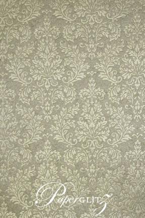 Handmade Embossed Paper - Embossed Grace Pewter Pearl Full Sheet (56x76cm)